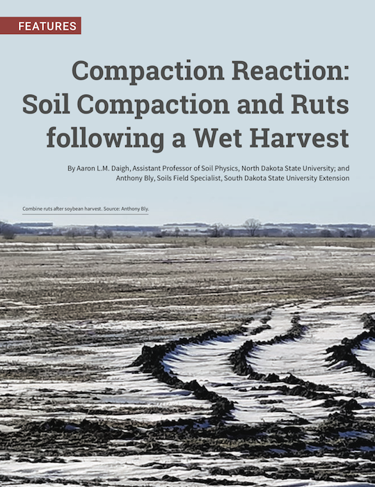 Compaction Reaction: Soil Compaction and Ruts following a Wet Harvest